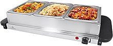 Invero® Compact 3-Section Stainless Steel Food