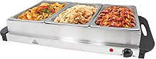 Invero® Large 3-Section Stainless Steel Food
