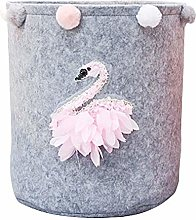 Inwagui Collapsible Nursery Storage Basket Soft