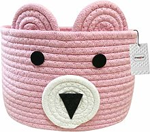 Inwagui Cotton Rope Storage Basket Collapsible