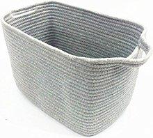 Inwagui Cotton Rope Storage Baskets Laundry Hamper