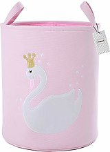 Inwagui Cute Swan Laundry Storage Basket Cotton