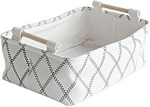 Inwagui Fashion Beige Storage Box Bin Rectangle