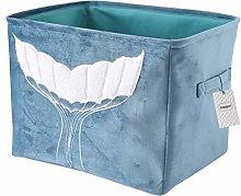 Inwagui Foldable Storage Basket Thickened Velvet