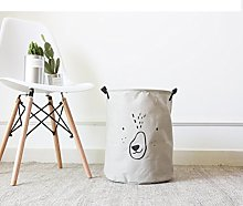 Inwagui Household Round Basket Laundry Bin Washing