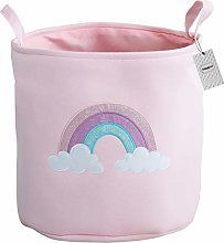 Inwagui Large Nursery Storage Basket Cotton Canvas