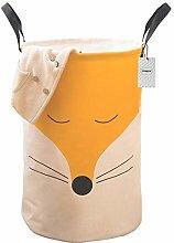 Inwagui Lovely Fox Design Storage Basket Cotton
