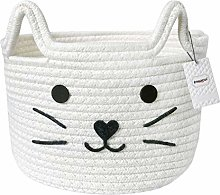 Inwagui Natural Cotton Rope Storage Basket Woven