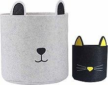 Inwagui Nursery Felt Storage Baskets Set of 2
