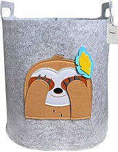 Inwagui Nursery Storage Basket Grey Felt Laundry