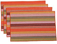 Inwagui Placemats Mats Set of 4 Large Rectangular