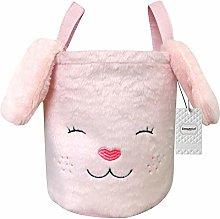 Inwagui Plush Fabric Storage Basket Nursery