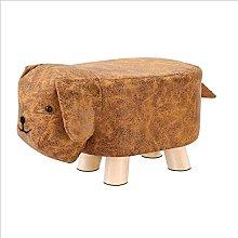 IOPQQ Sofa Footstool Ottoman Pu Leather Footrest