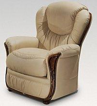 Iowa Armchair Genuine Italian Cream Leather Sofa