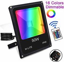 (IP66 Waterproof) 50W RGB LED Outdoor Flood