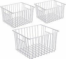 iPEGTOP Freezer Storage Organizer Basket, Wire