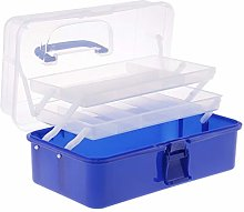 IPOTCH 13Inch Plastic Art Supply Storage Tool Box