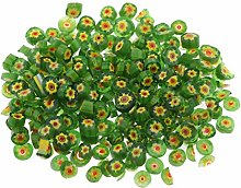 IPOTCH 50g Green Flower Glass Craft Fusible Glass