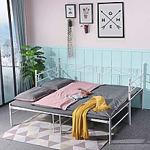 IPOTIUS Daybed with Trundle Sofabed Metal Bed