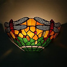 IPOUJ Style Stained Glass Wall Light Colorful