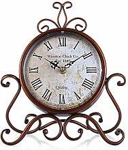 IPRE Metal Mantel Clock, Vintage Style Silent