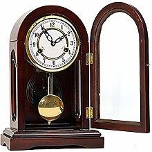 IPRE Olid Wood Mantel Clock, Vintage Pendulum
