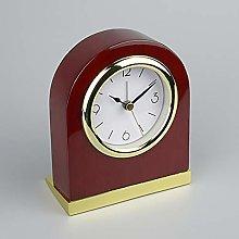 IPRE Solid Wood Mantel Clock, Silent Mantle Clock