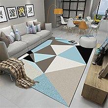 IRCATH Blue Black Brown Triangle Pattern Art