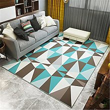 IRCATH Blue Gray Brown Triangle Pattern Geometric