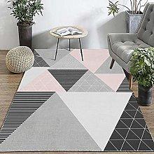 IRCATH Carpet Rug Mat Grey Pink Triangle Geometry
