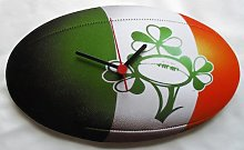 Ireland Rugby Ball Clock - Great Gift!! - RU2