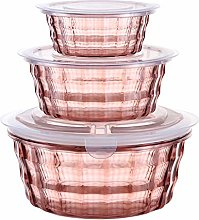 Irfora 3PCS Food Storage Container, Portable