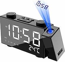Irfora Projection Alarm Clock, LCD Digital