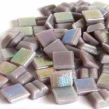 Iridescent Glass Mosaic Tiles 10mm Square 50g