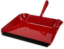 Iris Hantverk - Red Metal Dustpan with Short Handle