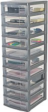 Iris Ohyama 10-Drawer Storage cart,