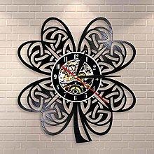 Irish Clover Leaf Shamrock Wall Clock Ireland Flag