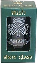 Irish Crystal Collectible Shot Glass with Shamrock