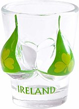 Irish Novelty Souvenir Shot Glass with Green
