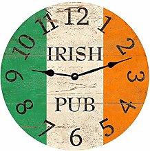 Irish Wall Clock for Living Room Home Office