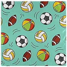 iRoad Napkins Cartoon Football Rugby Reusable