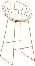 Iron Bar Stool, Bar Backrest High Chair, with