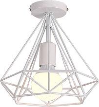 Iron cage retro industrial ceiling light, E27