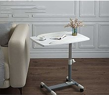 Iron Foldaway Desk with White Pvc Panel,Adjustable