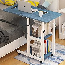 Iron Frame Bed Tables Overbed Tables with Blue