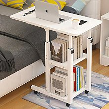 Iron Frame Overbed Table Desk with White Density