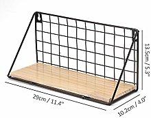 Iron Frame Storage Box Basket Hanging Rack Wall