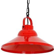 Iron hanging light, red
