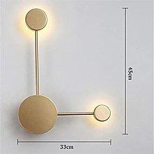 Iron LED Wall Lamp Salon Bedroom Night Gold Biała