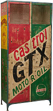 Iron made hand painted workshop cabinet castrol